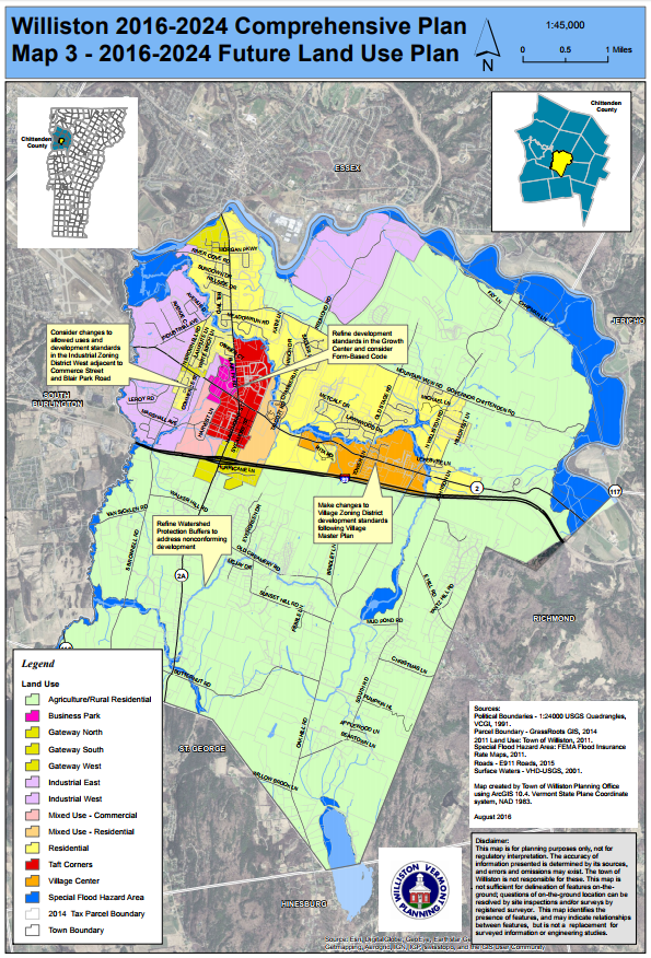 Growth Center Designation - Planning & Zoning - Town of ... on topographical map of vermont, tourist map of vermont, geologic map of vermont, political map of vermont,